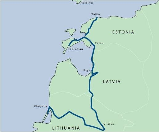 Baltics map APC Baltic States Tour